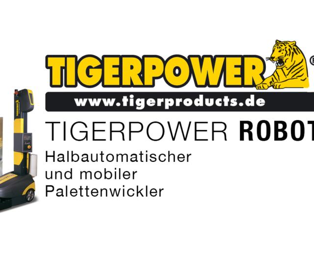 TigerPower® Robot, die mobile und halbautomatische Stretchwickelmaschine