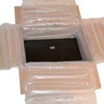 Die Luftkissen von FP bestehen zu 98%, aus recycelten Abfallprodukten und entsprechen dem EN13427 Standard.