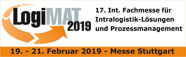 Logimat 2019 Logo und Text