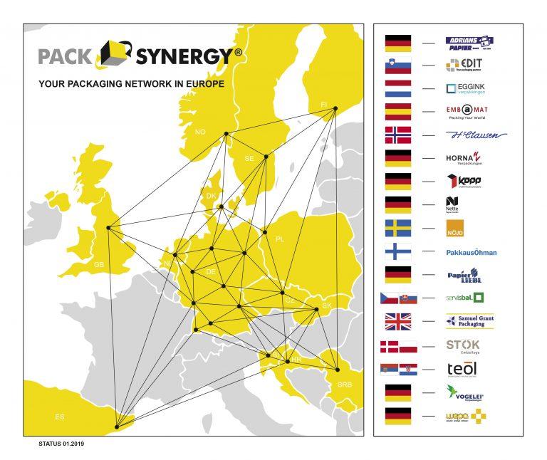 PackSynergy Netzwerk (Stand: 05.02.2019)