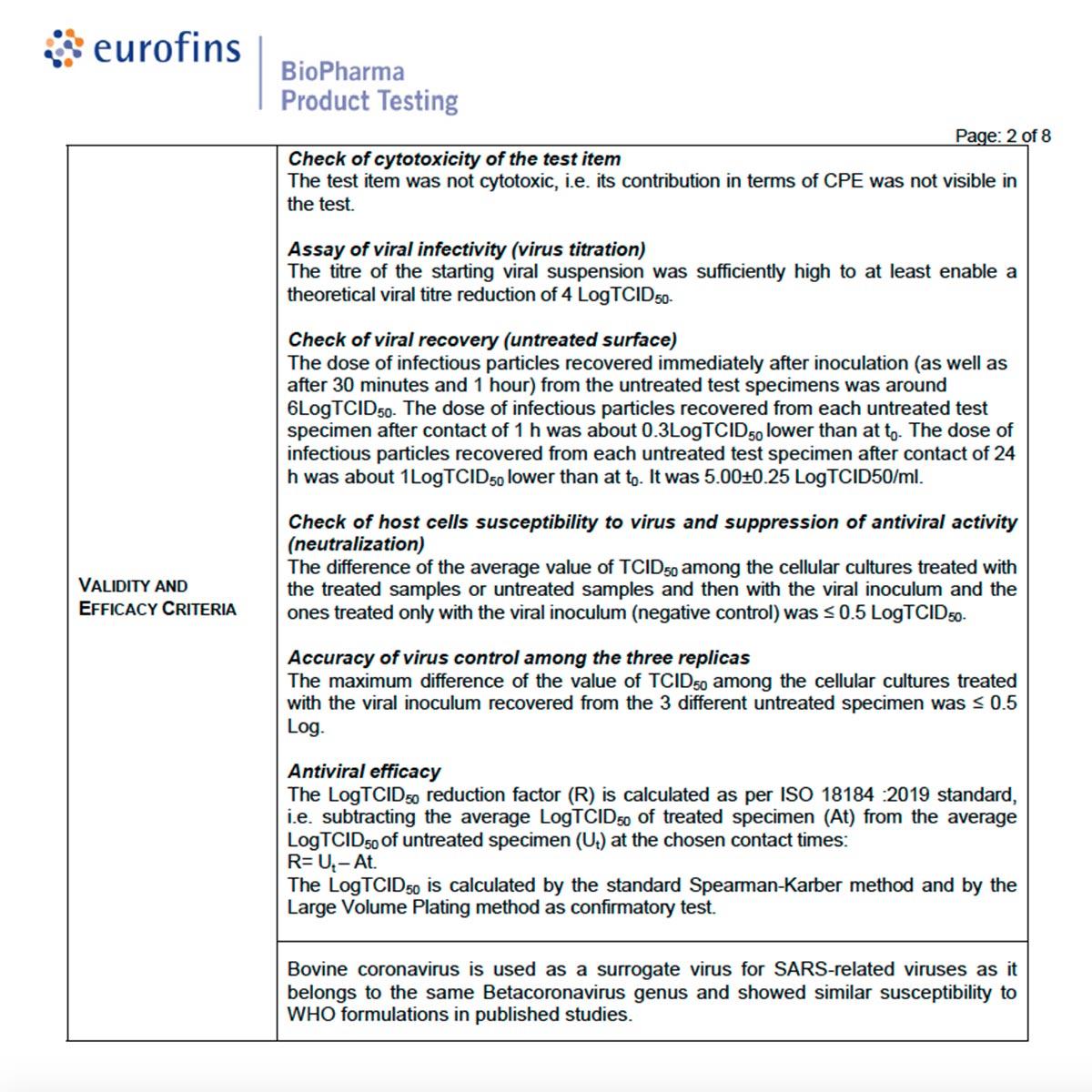 Excerpt of analytical report: AAI47546, Eurofins Number: STULV20AA2265-1
