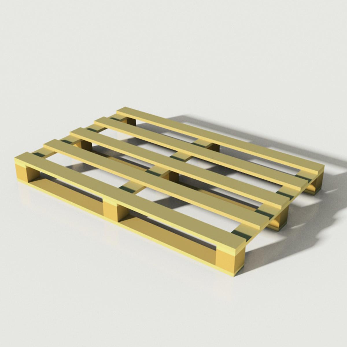 Palette ER051 mit Pressholzwürfeln, auf Kundenwunsch ähnlich der EPAL