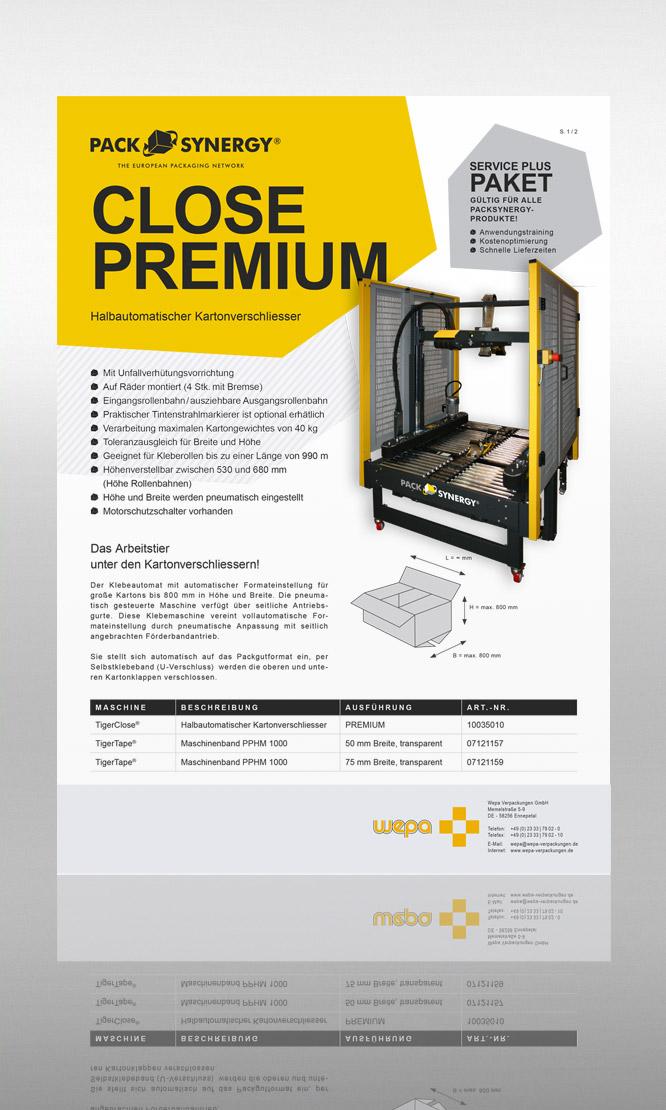 PackSynergy Close Premium